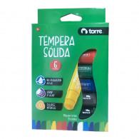 TEMPERA SOLIDA 6 COLORES