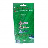 LAPICES DOBLE COLOR 12 LAPICES TRIANGULARES JUMBO 24 COLORES