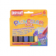 TEMPERA SÓLIDA PLAYCOLOR 6 COLORES INSTANT