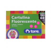CARPETA CON PAPEL CARTULINA FLUORESCENTE 6 PLIEGOS 6 COLORES 26X38 CM