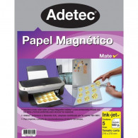 PAPEL MAGNÉTICO INK-JET MATE CARTA 650 GRS - 5 HOJAS