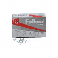 CLIPS FULTONS Nº1 REDONDO 100 UNIDADES 33 MM