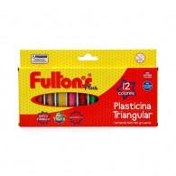 PLASTILINA 12 COLORES TRIANGULAR FULTONS