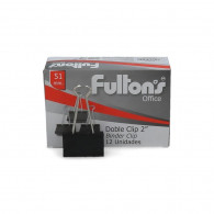 CLIPS FULTONS DOBLE NEGRO 12 UNIDADES 51 MM 2 PULGADAS