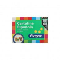 CARPETA CON PAPEL CARTULINA ESPAÑOLA 10 PLIEGOS 10 COLORES 25X32.5 CM