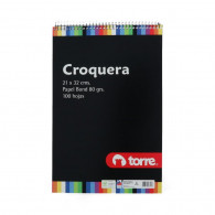 CROQUERA IMAGIA  21X32 CM  100 HOJAS HORIZONTAL TORRE