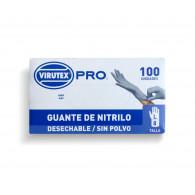 GUANTE DESECHABLE NITRILO TALLA L, 100 UNIDADES - VTX PRO