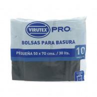 BOLSAS DE BASURA PLANA 50X70CM 10 UNIDADES - VTX PRO