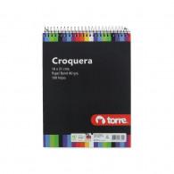 CROQUERA 16 X 21 CM.  IMAGIA 100 HOJAS BLANCO  TORRE