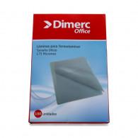 SOBRE PARA PLASTIFICAR 228X340MM OFICIO 100UN 175 MICRONES DIMERC