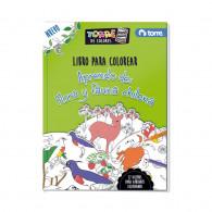 LIBRO COLOREAR FLORA Y FAUNA 32 HOJAS TORRE