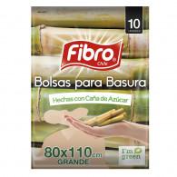 BOLSA BASURA ECOLOGICA 80X110 10 UN FIBRo