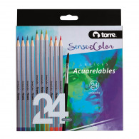 SET LAPICES ACUARELABLES SOC 24 COLORES