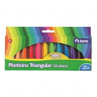 PLASTICINA TRIANGULAR 12 COLORES