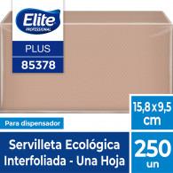 SERVILLETA INTERFOLIADA 1 X 250 UN ECOLOGICA
