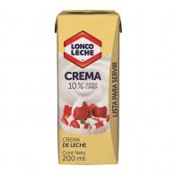 CREMA LISTA 200 GRS LONCOLECHE