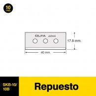 REPUESTO PARA CUCHILLO CARTONERO 10 UNIDADES SK-10 OLFA
