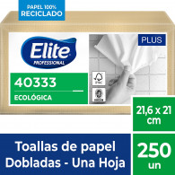 TOALLA PAPEL INTERFOLIADO NATURAL HOJA SIMPLE 18X250 UN ELITE