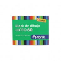 BLOCK DIBUJO LICEO N 60 20 HOJAS. DIS. IMAGINA TORRE