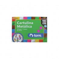 CARPETA CON CARTULINA METALICA 10 PLIEGOS 7 COLORES