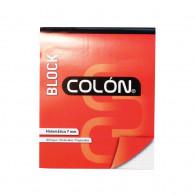 BLOCK CARTA COLÓN  PREPICADO  MATEMÁTICAS 7 MM  80 HOJAS  PERFORADAS  BLANCO